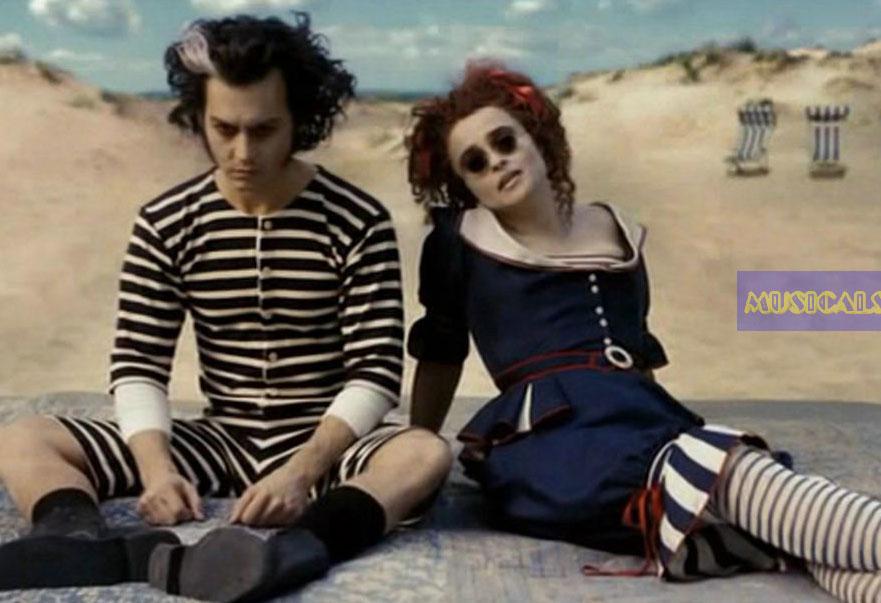 """... Junto al mar"""" de la película, con Johnny Depp y Helena Bonham Carter Helena Bonham Carter"""